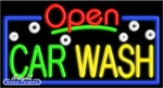 Car Wash Open Neon Sign