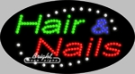 Hair & Nails LED Sign