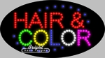 Hair & Color LED Sign
