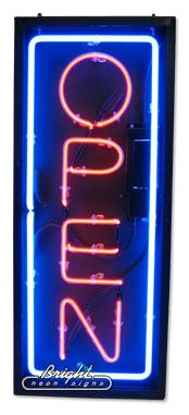 Double Faced Outdoor Vertical Neon Open Sign Only 899 99
