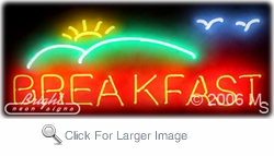 Breakfast Logo Neon Sign