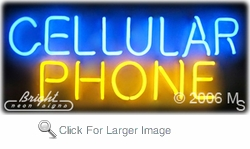 Cellular Phone Neon Sign