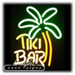 Tiki Bar Palm Neon Sculpture