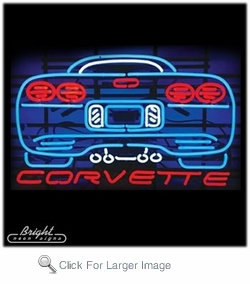 Corvette Rear Neon Sign