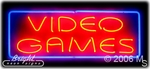 Video Games Neon Sign