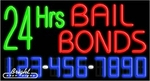 24 Hrs Bail Bonds Neon w/Phone #