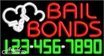 Bail Bonds Neon w/Phone #