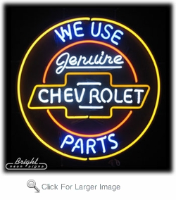 Genuine Chevrolet Parts Neon Sign