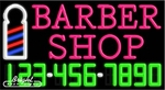 Barber Shop Neon w/Phone #