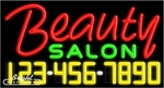 Beauty Salon Neon w/Phone #