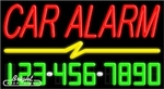 Car Alarm Neon w/Phone #
