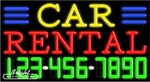 Car Rental Neon w/Phone #