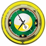 9-Ball Neon Wall Clock