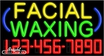 Facial Waxing Neon w/Phone #