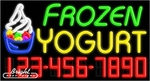 Frozen Yogurt Neon w/Phone #