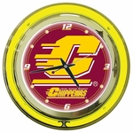Central Michigan University Neon Clock