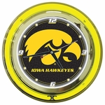 University of Iowa Neon Clock