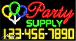 Party Supply Neon w/Phone #