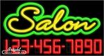 Salon Neon w/Phone #