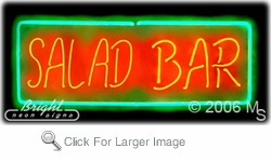 Salad Bars Neon Sign