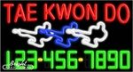 Tae Kwon Do Neon w/Phone #