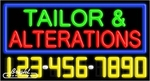 Tailor & Alterations Neon w/Phone #