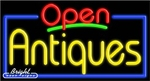 Antiques Open Neon Sign