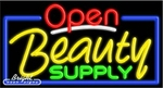 Beauty Supply Open Neon Sign