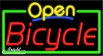 Bicycle Open Neon Sign
