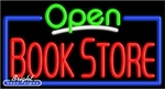 Book Store Open Neon Sign