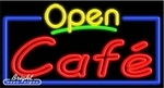 Caf� Open Neon Sign