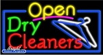 Dry Cleaners Open Neon Sign