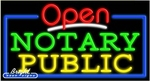 Notary Public Open Neon Sign
