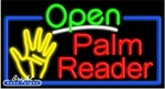 Palm Reader Open Neon Sign