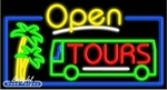 Tours Open Neon Sign