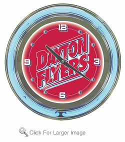 University of Dayton Neon Clock