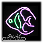 Angel Fish Neon Sculpture