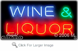 Wine Liquor Neon Sign