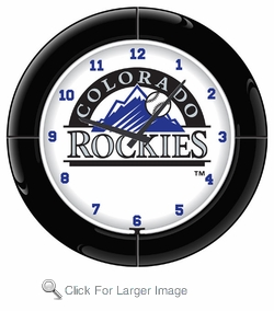 Colorado Rockies Neon Clock