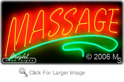 Massages Neon Sign
