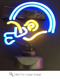Football Helmet Neon Sculpture