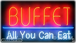 Buffet All You Can Eat Neon Sign