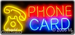 Phone Card Neon Sign