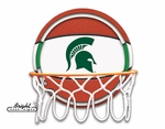 Michigan State Neon Basketball Sign