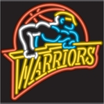 Golden St. Warriors Neon Sign