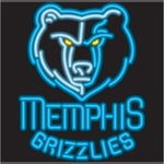 Memphis Grizzlies Neon Sign