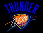 Oklahoma City Thunder Neon Sign