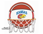 Kansas Neon Basketball Sign
