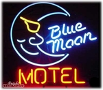 Blue Moon Motel Neon Sign