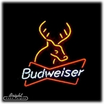 Budweiser Deer Neon Sign